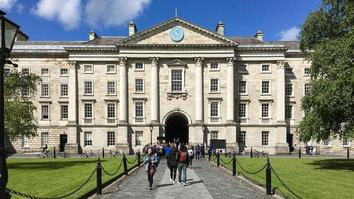 Regent House building at Trinity College in Dublin, Ireland